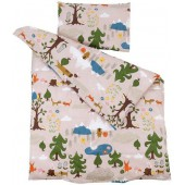 Children bed linen Little Bear pink