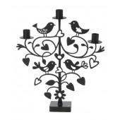 Kovový svícen Lovebirds