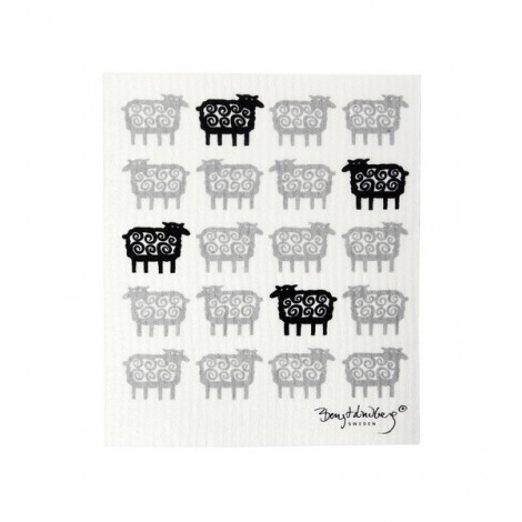 Dishcloth Black sheep 17x20