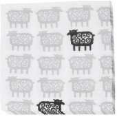 Paper napkins Black sheep