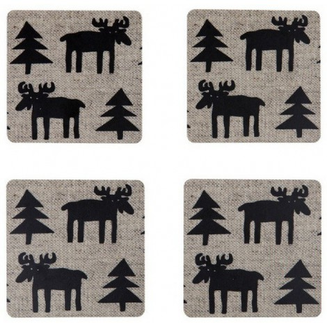 Coasters Moose 4-set