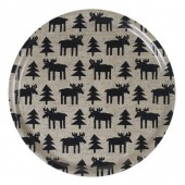 Round tray Moose