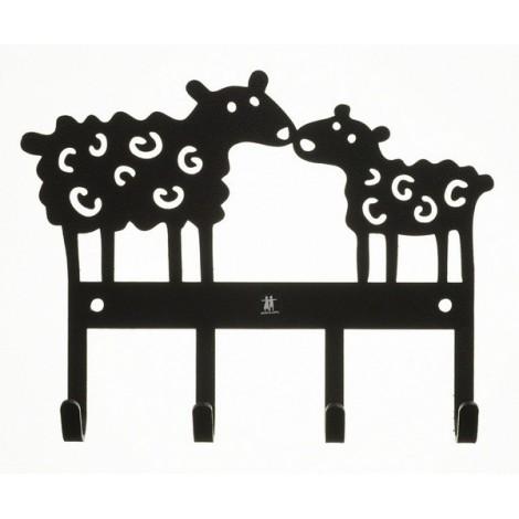 Kovový věšák na zeď  Sheep