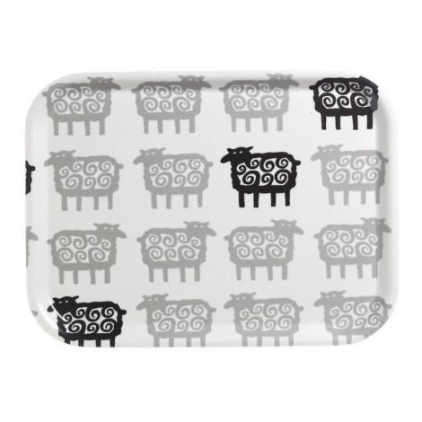 Tray oblong Black Sheep