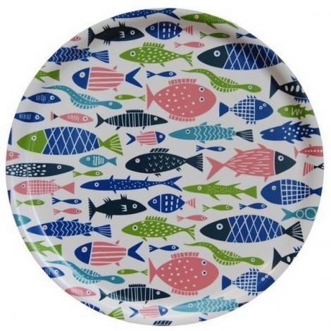 Round tray Fish