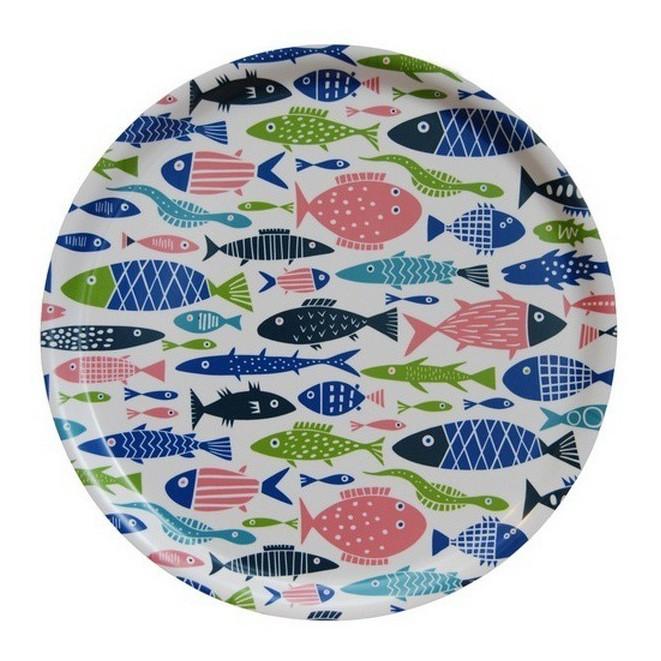 Kulatý servírovací tác Fish