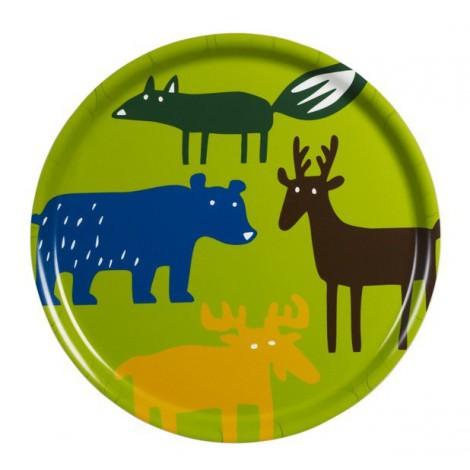 Round tray Wild animals