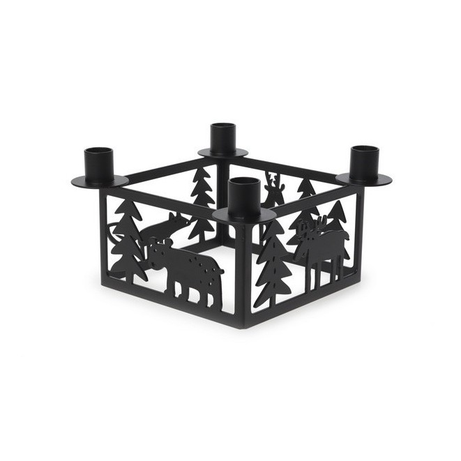 Candle holder Forest advent