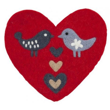 Plstěná podložka Love birds