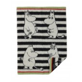 Wool Baby blanket Moomin black