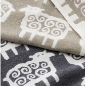 Cotton blanket Black Sheep