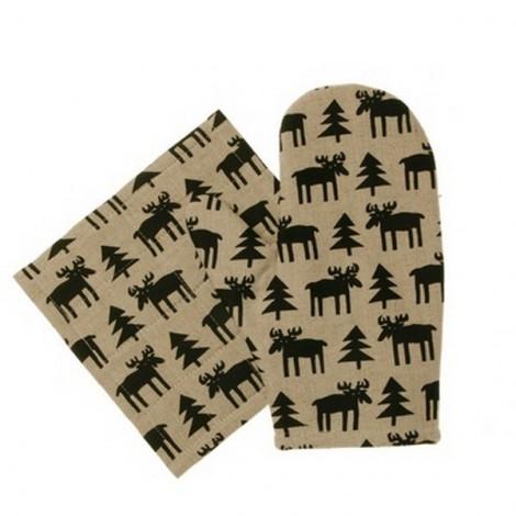 Kuchyňská chňapka rukavice Moose