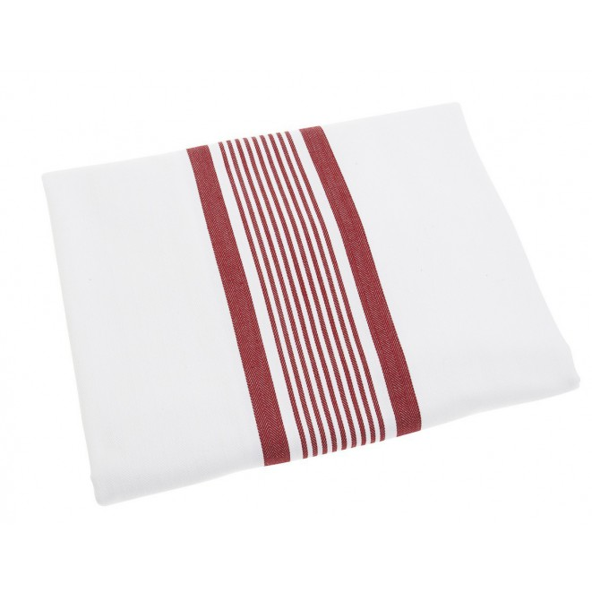 Bavlněný ubrus Sofie bílo-červený