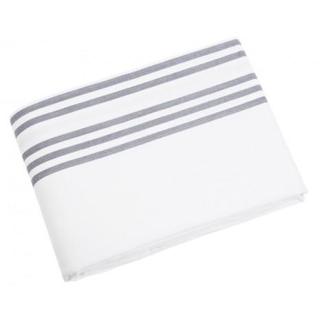Bavlněný ubrus Sigrid bílo-šedý