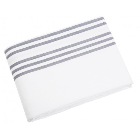 Table cloth Sigrid white grey