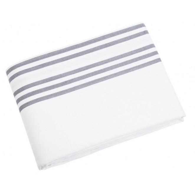 Table cloth Sigrid white grey