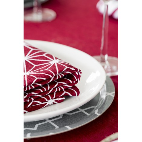Table cloth Linjer red