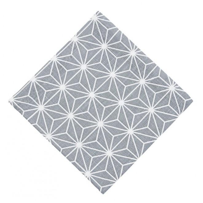 Bavlněné ubrousky Linjer šedé
