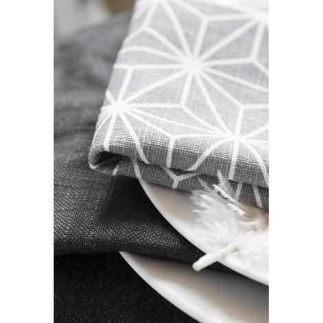 Cotton napkin Linjer grey