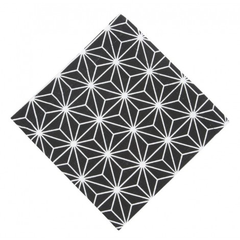 Cotton napkin Linjer grafit
