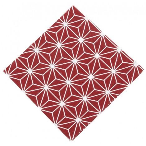 Bavlněné ubrousky Linjer červené