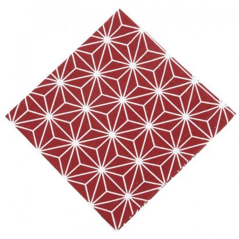 Cotton napkin Linjer red