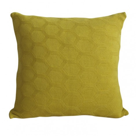 Knitted cushion Hedris yellow