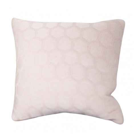 Knitted cushion Hedris pink