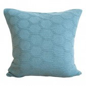 Knitted cushion Hedris sea blue