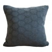 Knitted cushion Hedris dark grey