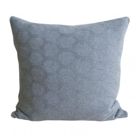 Pletený polštář Hedris šedý