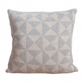 Knitted cushion Iver grey