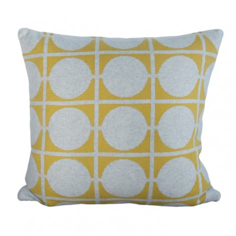 Knitted cushion cover Don yellow