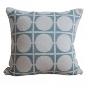 Knitted cushion cover Don seablue