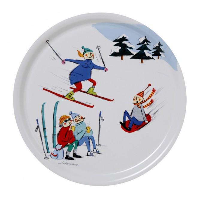 Round tray Winter life