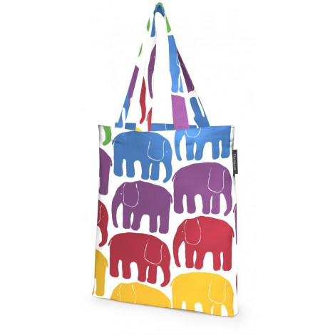 Cotton shopping bag Elefantti multi