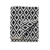 Cotton blanket Diamond black
