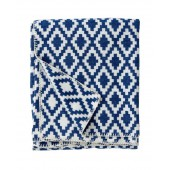 Cotton blanket Diamond blue