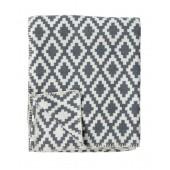 Cotton blanket Diamond grey
