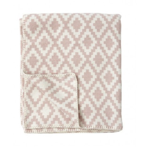 Cotton blanket Diamond pale pink