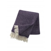 Wool throw Polka lilac