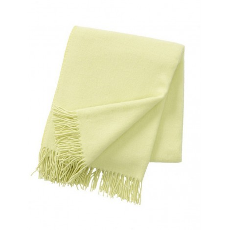 Wool throw Bamboo lime