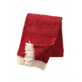 Wool throw Ralph red