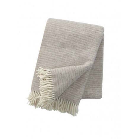 Wool throw Ralph beige