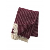 Wool throw Ralph aubergine