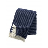 Wool throw Ralph navy blue