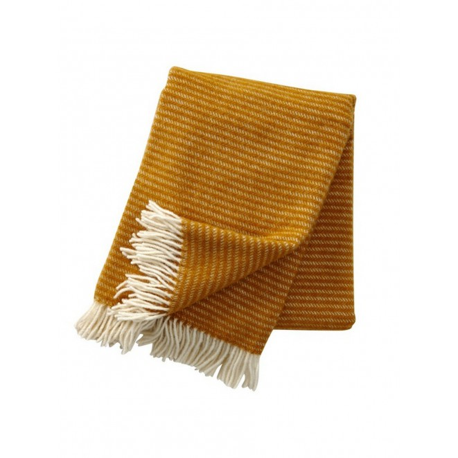 Wool throw Ralph mustard