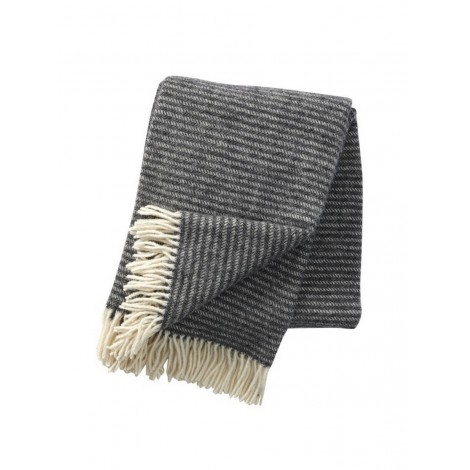 Wool throw Ralph dark grey