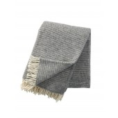 Wool throw Ralph light grey