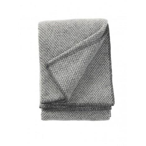 Wool throw Domino dark grey